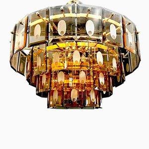 Murano Kristallglas Kronleuchter, 1970er