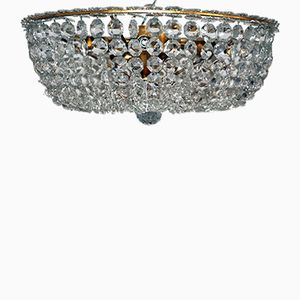 Lampada da soffitto con cristalli Swarovski, anni '50