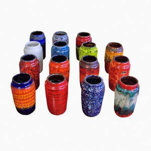 Model 231-15 Ceramic Vases from Scheurich, Set of 15