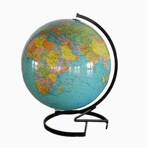 Französischer beleuchteter Glas Globus von Cartes Taride, 1972