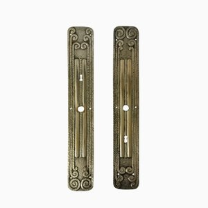Art Deco Door Fittings, Set of 2