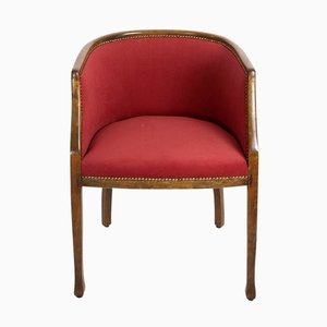 Art Deco Walnut Armchair