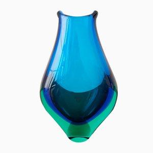 Vintage Sommerso Murano Glass Vase
