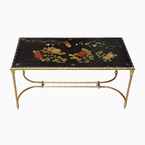 Vintage Coffee Table with Chinese Decor from Maison Bagues