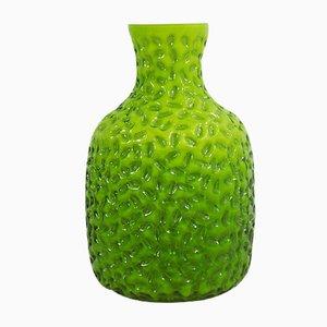 Vaso in vetro verde di Stelvia, anni '60