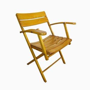 Sedia da giardino vintage pieghevole di Herlag, anni '40