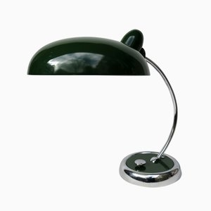 Dark Green and Chrome Desk Lamp from Escolux, 1930s