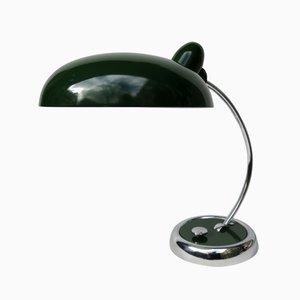 Lámpara de escritorio en verde oscuro y cromado de Escolux, años 30