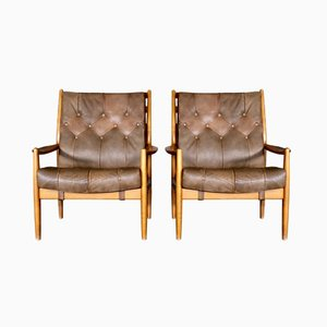 Läckö Sessel von Hörlin-Holmquist & Thillmark für Nordiska Kompaniet, 1960er, 2er Set