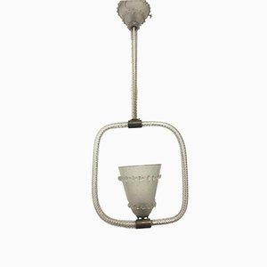 Lámpara colgante italiana de cristal de Murano de Barovier & Toso, años 40