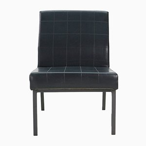 Black Leatherette Lounge Chair, 1960s