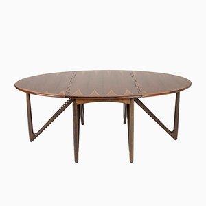 Mesa de comedor de palisandro de Kurt Østervig para Jason Møbler, años 50