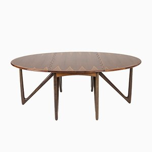 Rosewood Dining Table by Kurt Østervig for Jason Møbler, 1950s