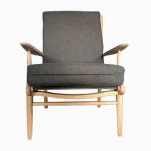 Mid-Century Sessel aus Ulmenholz von Scandart