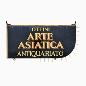 Panneau de Magasin Antique Vintage, Italie, 1950s