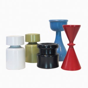 Candleholders by Erik Höglund for Boda Trä, 1960s, Set of 5