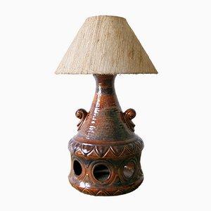 Lampada da tavolo in ceramica di EEA Leuchten, anni '70