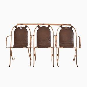 Chaises de Jardin Vintage par Harry Sebel pour Stak-a-pare, 1950s, Set de 3