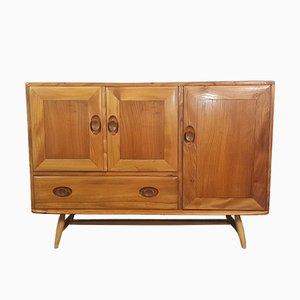 Vintage Ulmenholz Sideboard mit Buchenholz Beinen von Lucian Ercolani für Ercol, 1960er