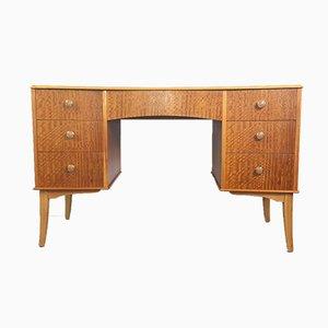 Vintage Nussholz Furnier Schreibtisch von Vesper für Gimson & Slater, 1950er