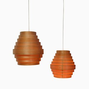 Mid-Century Pendant Lamps by Hans-Agne Jakobsson for Markaryd, 1950s, Set of 2