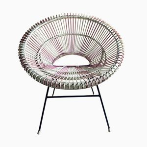 Vintage French Rattan Solitaire Chair by Janine Abraham and Dirk Jan Rol, 1950s