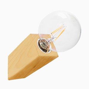 Pirn Wandlampe aus Ahorn von Andrea Pregl für Ulap design