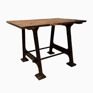 Table d'Appoint Antique Industrielle