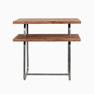 Vintage Bauhaus Style Tubular Steel Side Table