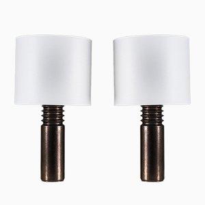 Lámparas de mesa suecas vintage de cerámica de Luxus. Juego de 2