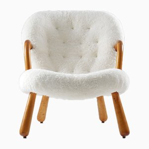 Vintage Clam Chair by Philip Arctander for Nordisk Staal & Møbel Central