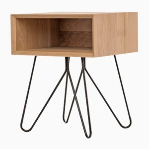 Nove Side Table in Black by Mendes Macedo for Galula