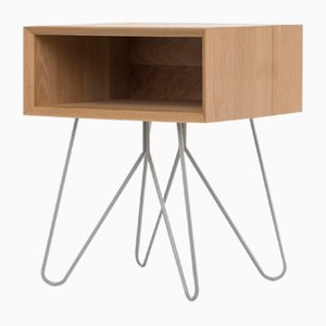 Nove Side Table in Grey by Mendes Macedo for Galula