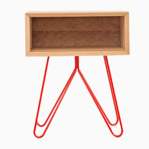 Nove Side Table in Red by Mendes Macedo for Galula
