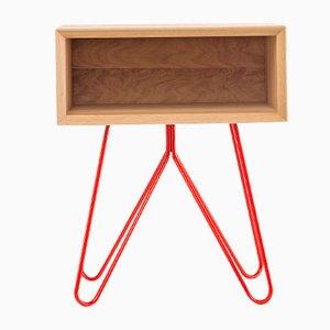 Table d'Appoint Nove Rouge par Mendes Macedo pour Galula