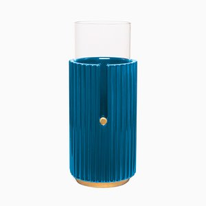Large Pin Up I Vase in Blue by Cristina Celestino for Paola C.
