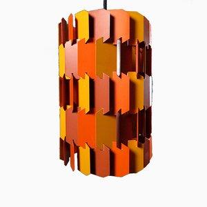 Vintage Facet-Pop Hängelampe von Louis Wiesdorf für Lyfa