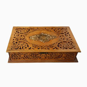 Vintage Carved Wooden Box