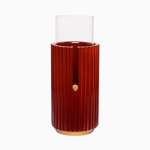 Petit Vase Pin Up II en Rouge par Cristina Celestino pour Paola C.