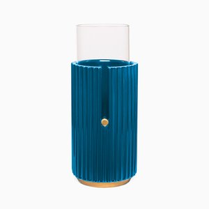 Small Pin Up II Vase in Blue by Cristina Celestino for Paola C.