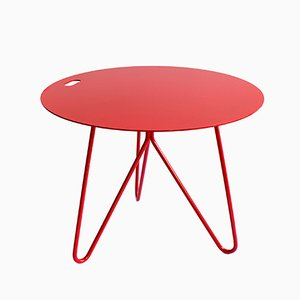 Tavolino Seis rosso di Mendes Macedo per Galula