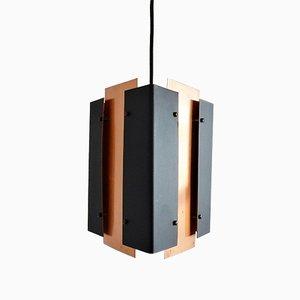 Lampe à Suspension Vintage Triangulire en Cuivre