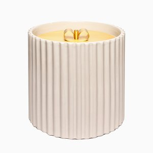 Large Rossana I Ceramic Box in Ivory by Cristina Celestino for Paola C.