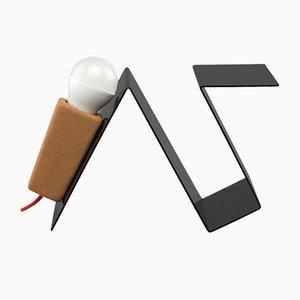 Lampe de bureau Glint 3 avec Base Noire & Cable Textile Rouge par Mendes Macedo pour Galula