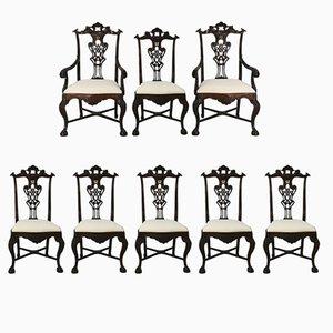 Chaises Vintage en Palissandre, Portugal, Set de 8