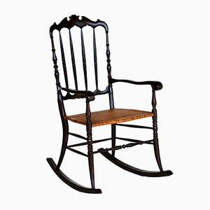 Rocking Chair Chiavarina Vintage, 1950s