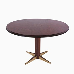 Vintage Circular Rosewood Dining Table