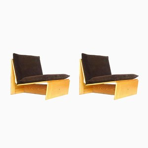 Mid-Century Lounge Chairs by Mario Bellini and Vico Magistretti, Set of 2