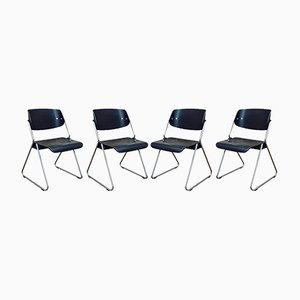 Chaises de Wilkhahn, 1960s, Set de 4