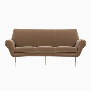 Italian Modern 3-Seater Curved Sofa, 1960s